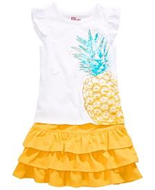 Epic Threads Little Girls Pineapple T-Shirt & Ruffled Skirt, Created for Macy's