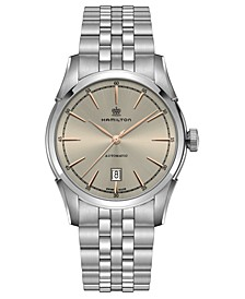 Men's Swiss Automatic Spirit Of Liberty Stainless Steel Bracelet Watch 42mm