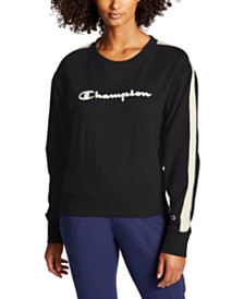 Champion Heritage Varsity-Stripe Sweatshirt