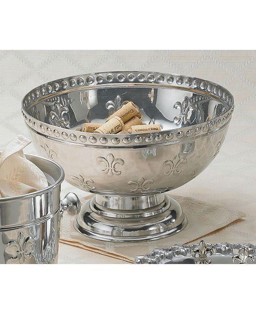 St. Croix KINDWER Fleur-De-Lis Aluminum Punch Bowl