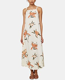 Juniors' Caden Tie-Back Midi Dress