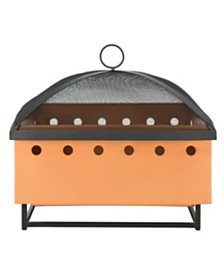 Wyatt Square Fire Pit, Quick Ship