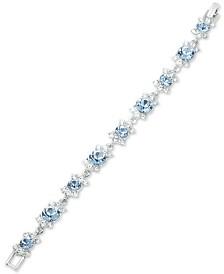 Givenchy Silver-Tone Crystal & Stone Flex Bracelet