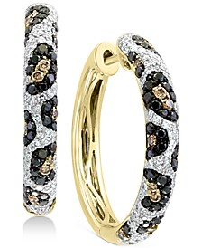 EFFY® Multi-Color Diamond Hoop Earrings (1-1/4 ct. t.w.) in 14k Gold