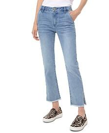 Michael Michael Kors Frayed-Hem Ankle Jeans