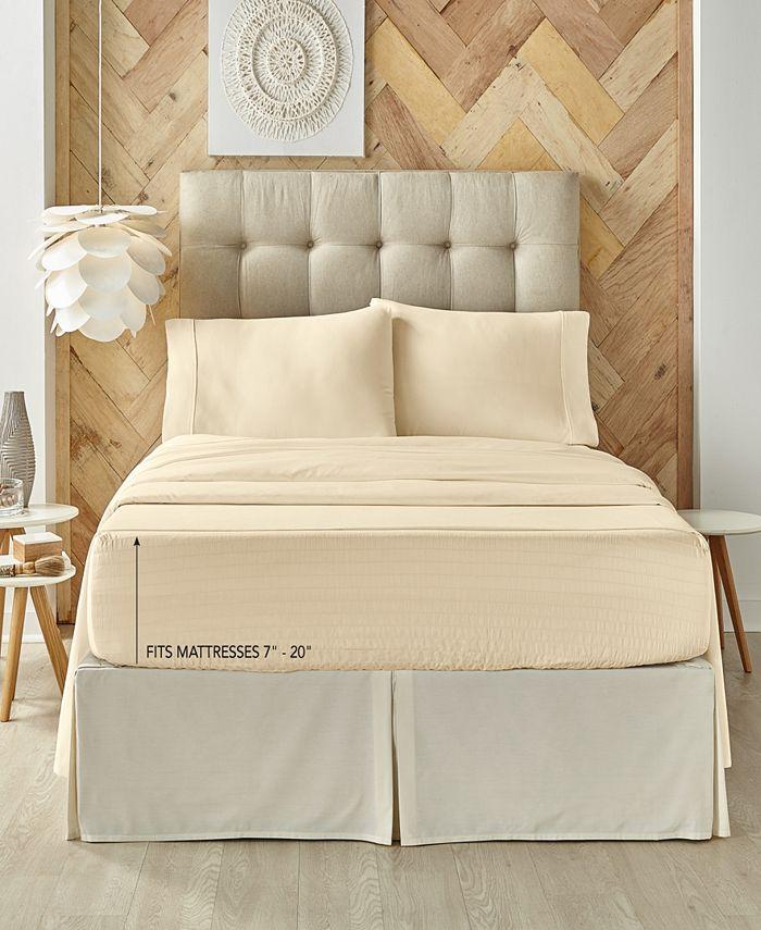 J Queen New York - Royal Fit Ivory 300 TC Cotton-blend Queen Sheet Set