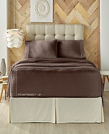 J. Queen New York Royal Fit 300 TC Cotton-blend Full Sheet Set