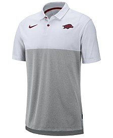 Nike Men's Arkansas Razorbacks Dri-Fit Colorblock Breathe Polo