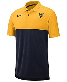 Nike Men's West Virginia Mountaineers Dri-Fit Colorblock Breathe Polo