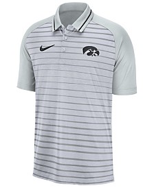 Nike Men's Iowa Hawkeyes Stripe Polo