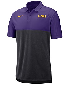 Nike Men's LSU Tigers Breathe Colorblock Polo