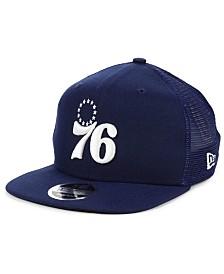 New Era Philadelphia 76ers Dub Fresh Trucker 9FIFTY Snapback Cap