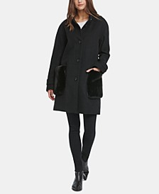 Faux-Fur-Pocket Walker Coat