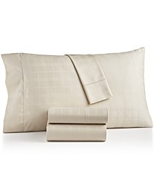 Windowpane Cotton 550-Thread Count 3-Pc. Twin Sheet Set, Created for Macy's
