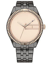 Women's Gray Ion-Plated Bracelet Watch 38mm, Created for Macy's