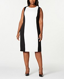 Trendy Plus Size Colorblocked Sheath Dress