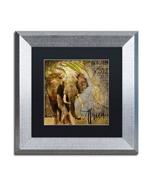 "Trademark Global Color Bakery 'Taste Of Africa III' Matted Framed Art - 11"" x 11"""