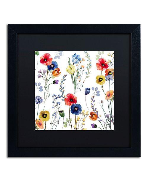 "Trademark Global Color Bakery 'Summer Linen' Matted Framed Art - 16"" x 16"""
