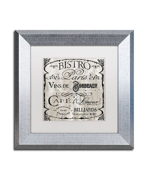 "Trademark Global Color Bakery 'Paris Bistro III' Matted Framed Art - 11"" x 11"""
