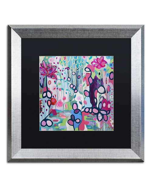 "Trademark Global Carrie Schmitt 'In The Flow' Matted Framed Art - 16"" x 16"""