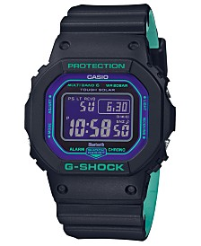 G-Shock Men's Digital Solar Black Resin Strap Watch 42.8mm