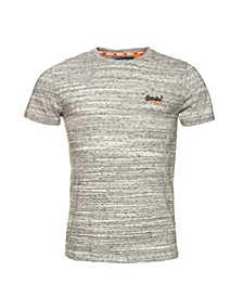 Orange Label Vintage-Like Embroidery T-Shirt