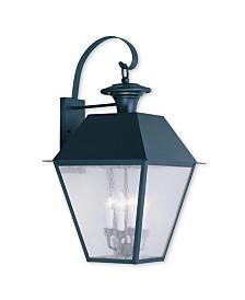 Livex Mansfield 4-Light Outdoor Wall Lantern
