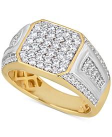 Men's Diamond Cluster Ring (1-1/2 ct. t.w.) in 10k Gold