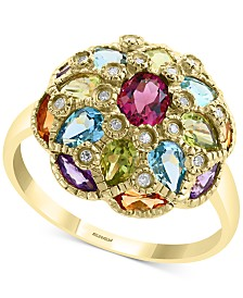 EFFY® Multi-Gemstone & Diamond Accent Statement Ring (2-3/4 ct. t.w.) in 14k Gold