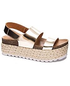 Peyton Flatform Jute Sandals