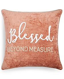 "Blessed Beyond Measure 20"" x 20"" Decorative Pillow"