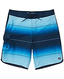 Big Boys Stripe Pro Swim Trunks