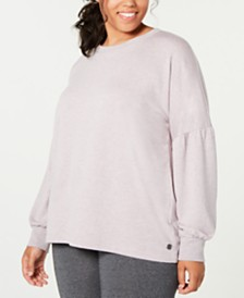 Ideology Plus Size Drop-Shoulder Top, Created for Macy's