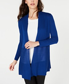 Anne Klein Long Open-Front Cardigan