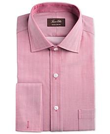Men's Slim-Fit Non-Iron Supima® Small Herringbone French Cuff Dress Shirt, Created for Macy's