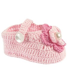 Baby Girl Crochet Bootie with Flower