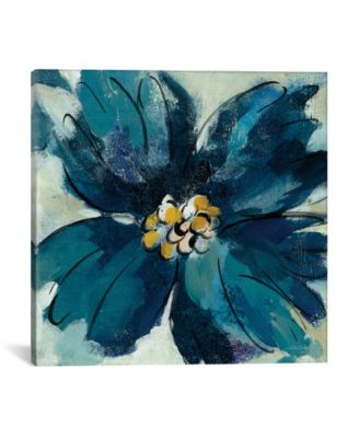 """Inky Floral Ii by Silvia Vassileva Gallery-Wrapped Canvas Print - 18"""" x 18"""" x 0.75"""""""