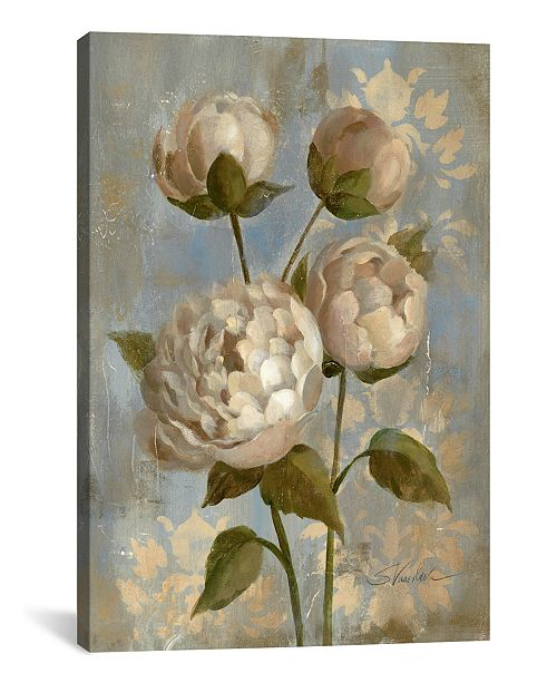 """iCanvas Peony on Soft Blue by Silvia Vassileva Gallery-Wrapped Canvas Print - 26"""" x 18"""" x 0.75"""""""