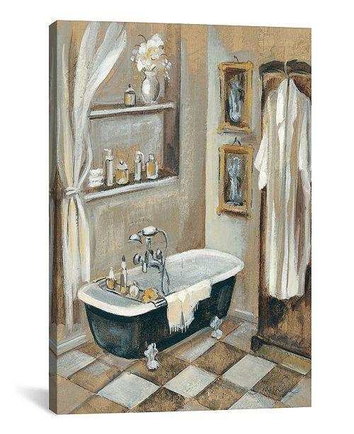 "iCanvas French Bath Iii by Silvia Vassileva Gallery-Wrapped Canvas Print - 18"" x 12"" x 0.75"""