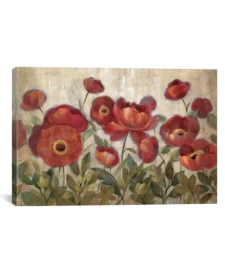 "Daydreaming Flowers Red by Silvia Vassileva Gallery-Wrapped Canvas Print - 26"" x 40"" x 0.75"""