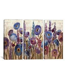 """Lupines and Poppies by Silvia Vassileva Gallery-Wrapped Canvas Print - 40"""" x 60"""" x 1.5"""""""