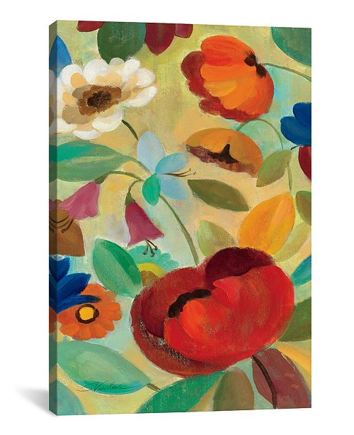 "iCanvas Summer Floral Panel Ii by Silvia Vassileva Gallery-Wrapped Canvas Print - 40"" x 26"" x 0.75"""