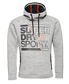 Men's Gym Tech Stretch Graphic Overhead Hoodie