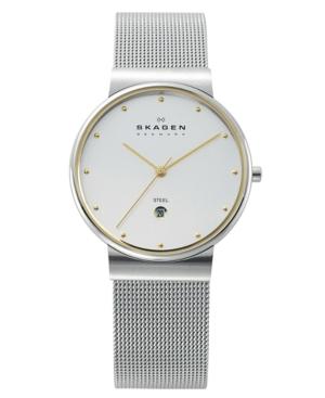 Skagen Watch, Men's Stainless Steel Mesh Bracelet 355LGSC