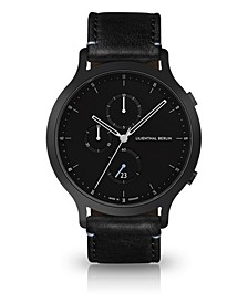 Chronograph with Black Leather Watch 42mm