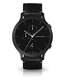 Lilienthal Berlin Chronograph with Black Leather Watch 42mm