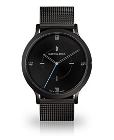 Lilienthal Berlin Urbania All Black Steel Mesh Watch 40mm