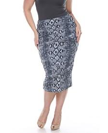 White Mark Plus Jordan Pencil Skirt