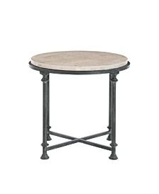 Galesbury Round Metal End Table