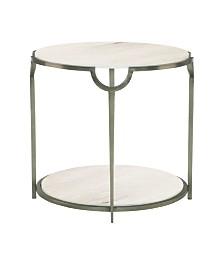 Bernhardt Morello Round Metal End Table